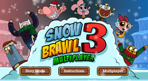 SnowBrawl Fight 3